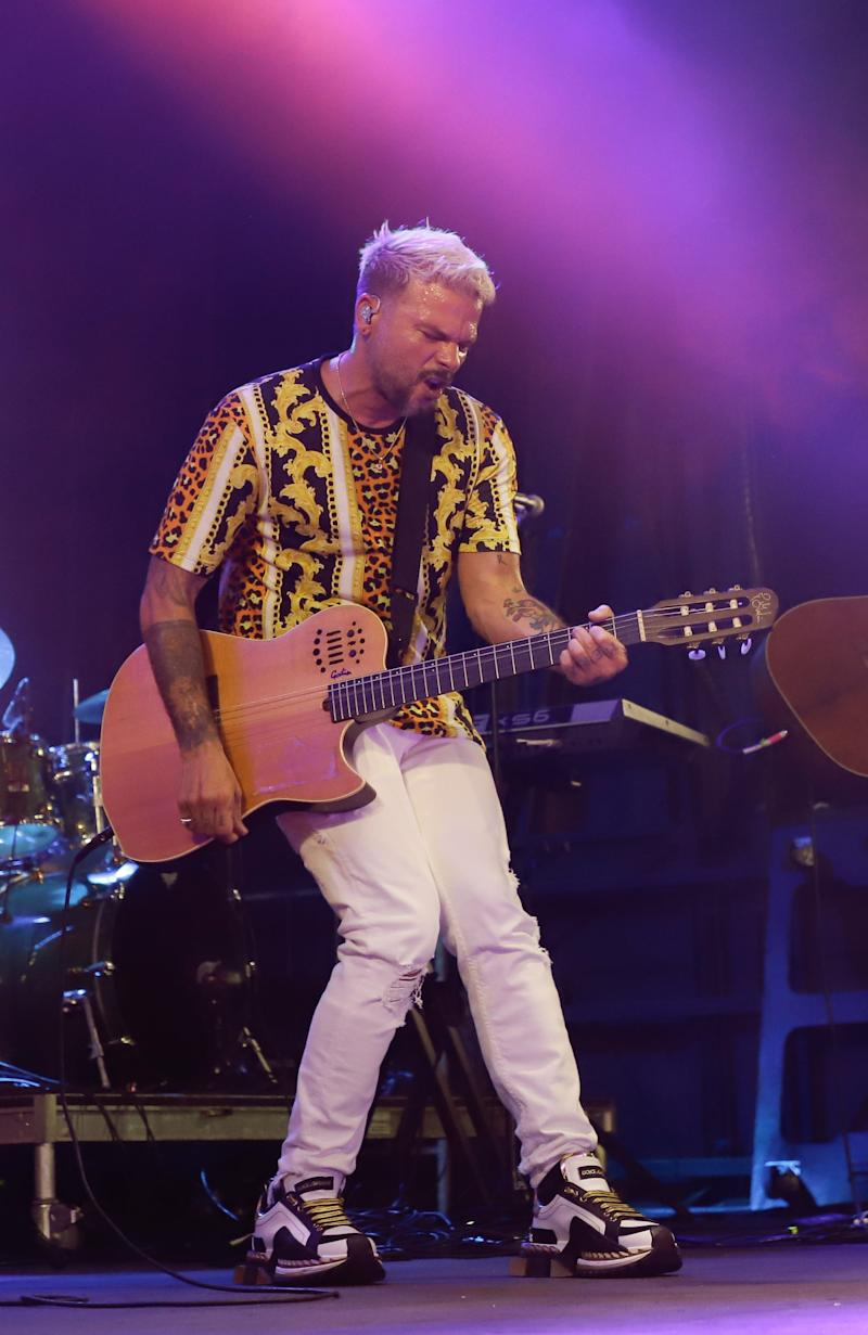 MIAMI, FLORIDA - AUGUST 06: Pedro Capo performs during 2019 Barca Fest Miami at Bayfront Park on August 6, 2019 in Miami, Florida. (Photo by John Parra/Getty Images)