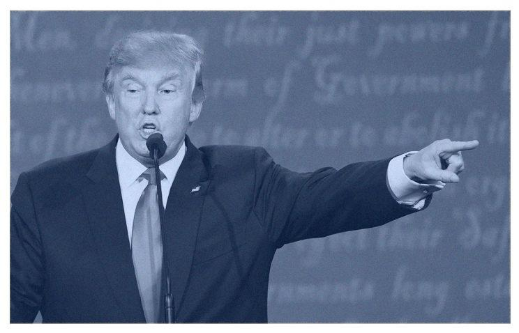 Republican presidential candidate Donald Trump speaks during the final presidential debate. (Photo: SAUL LOEB/AFP/Getty Images)