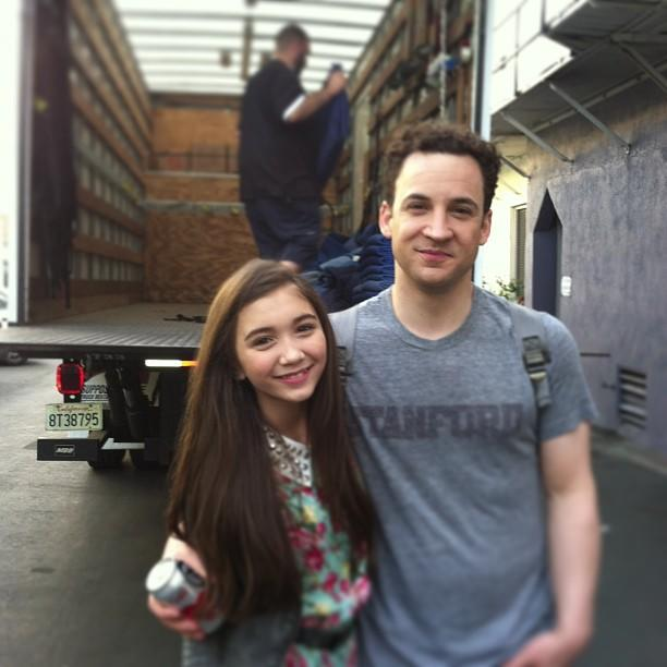 "Wow, that's some convincing casting! Rowan Blanchard -- who will play Cory (Ben Savage) and Topanga's (Danielle Fishel) daughter Riley Matthews on ""Girl Meets World"" -- <a href=""http://instagram.com/p/XLi6rUpdV5"">Instagrammed this shot</a> of her and her TV dad, and they really do look alike. Check out their matching brown locks and dark eyes. Sure, Savage looks young enough to be her big bro, but it's not too far-fetched considering that Cory and Topanga got married while still in college during Season 7 of ""<a href=""http://tv.yahoo.com/shows/boy-meets-world/"">Boy Meets World</a>.""<br /><br />The 11-year-old was cast after a nationwide search. Michael Jacobs (""BMW"" creator, who's also behind the sequel) told <a href=""http://insidetv.ew.com/2013/01/28/boy-meets-world-daughter-rowan-blanchard/"">Entertainment Weekly</a>, ""As soon as Rowan walked into the room, I was reminded of why Ben Savage was loved as Cory Matthews."""
