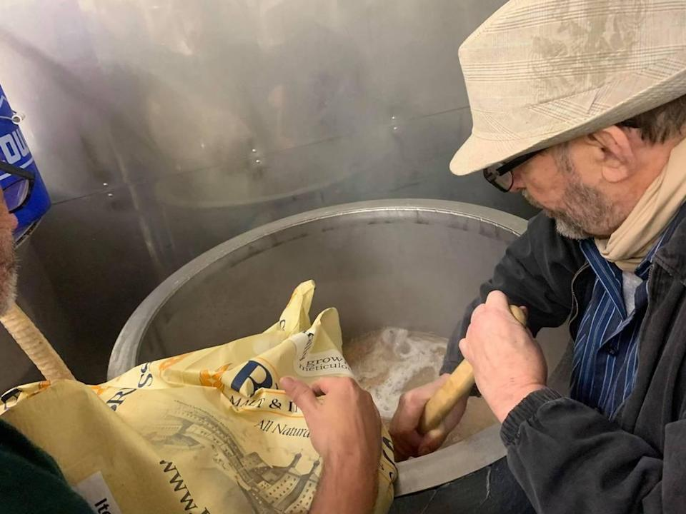 Jess Faucette brews a batch of beer at Belmont Brewing Co. The brewery opens March 6.