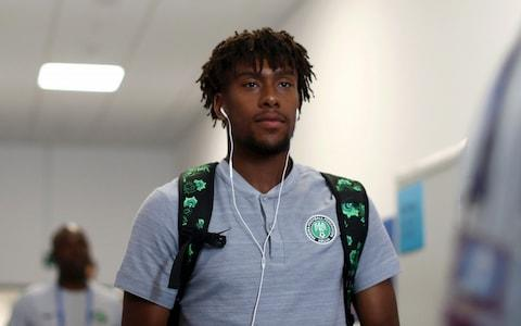 Alex Iwobi arrives at the stadium - Credit: Getty images