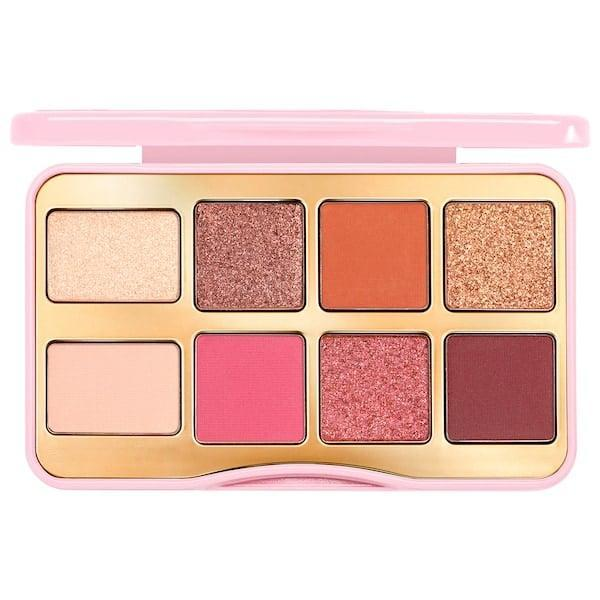 """<p>There are a few bold mattes to add with the shimmers while you're playing with this <span>Too Faced Mini Let's Play Eye Shadow Palette ($27) - and they all smell like bubble gum.<br><br><em>Love all things beauty? Can't get enough products? Come join our Facebook Group, </em></span><em><a href=""""https://www.facebook.com/groups/389401751481325/"""" class=""""link rapid-noclick-resp"""" rel=""""nofollow noopener"""" target=""""_blank"""" data-ylk=""""slk:Real Reviews With POPSUGAR Beauty""""><span class=""""s1"""">Real Reviews With POPSUGAR Beauty</span></a> There are lots of fun conversations happening there, as well as all the product recommendations you could ask for - not just from us, but also community members, too.</em></p>"""