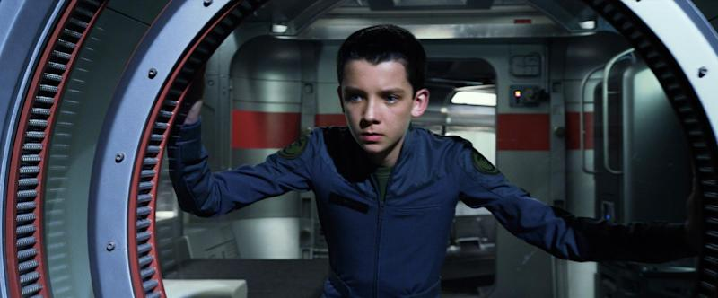 "This publicity photo released by Summit Entertainment shows Asa Butterfield in a scene from the film, ""Ender's Game."" (AP Photo/ Summit Entertainment)"