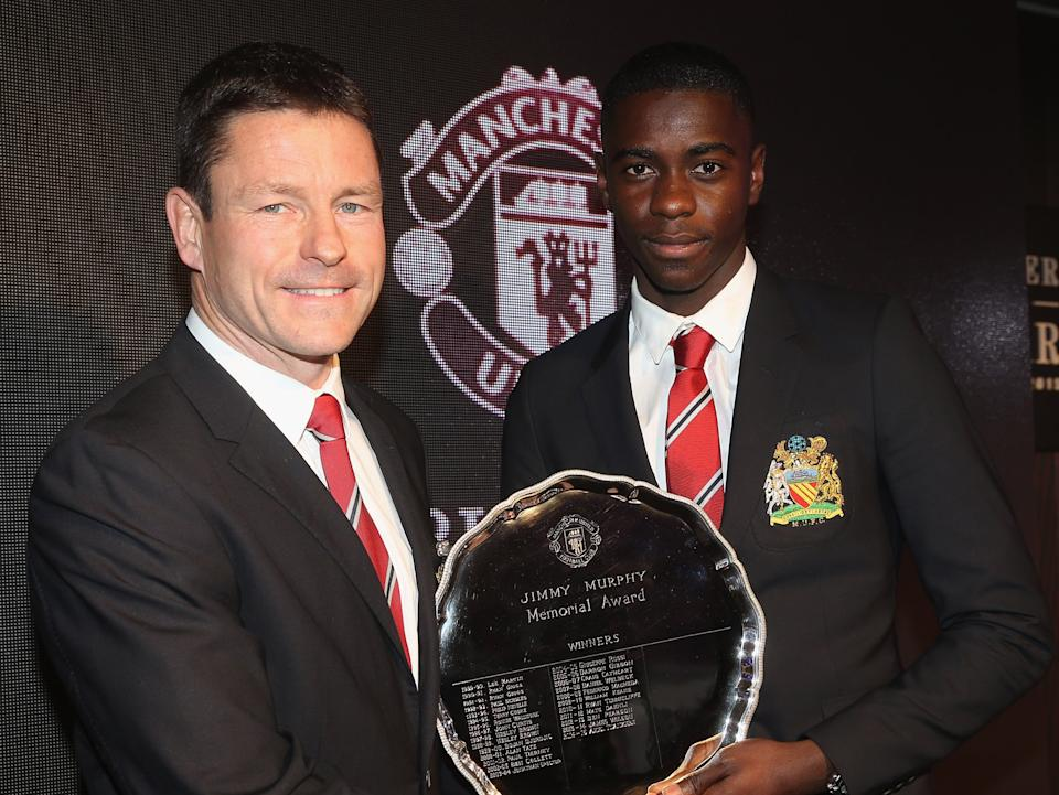 Tuaznebe was named United's Young Player of the Year in 2015Manchester United via Getty Images