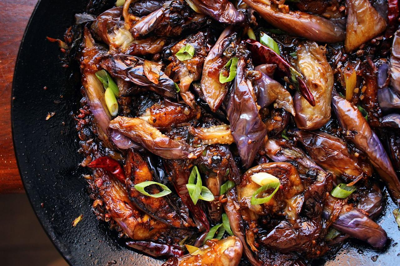 """<p>This dish is SO flavorful—we're confident that you'll be a huge fan.</p><p>Get the recipe from <a href=""""https://www.delish.com/cooking/recipe-ideas/a33298481/fish-eggplant-recipe/"""" target=""""_blank"""">Delish</a>.</p>"""
