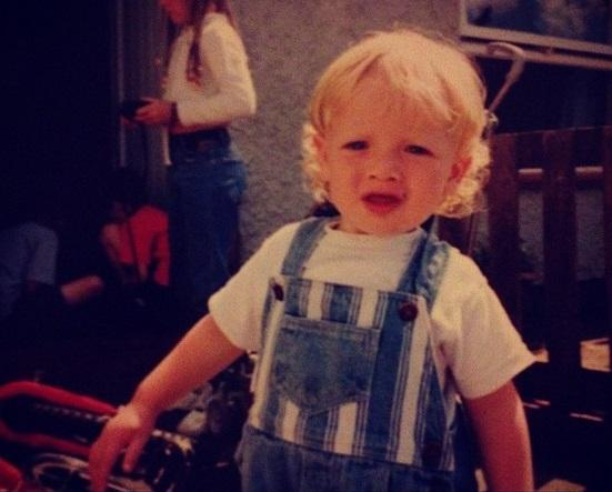<p>Here's an England star pictured at a very young age. </p>