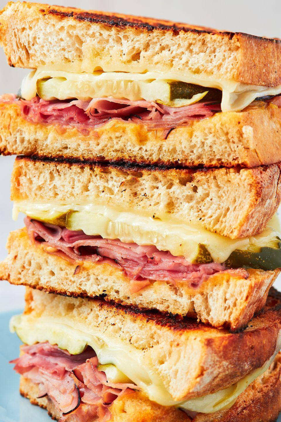 """<p>Keep things simple with this easy (but delish) recipe.</p><p>Get the recipe from <a href=""""https://www.delish.com/cooking/recipe-ideas/a26870550/ham-and-cheese-sandwich-recipe/"""" rel=""""nofollow noopener"""" target=""""_blank"""" data-ylk=""""slk:Delish"""" class=""""link rapid-noclick-resp"""">Delish</a>.</p>"""