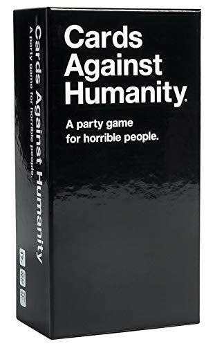 """<p><strong>Cards Against Humanity LLC.</strong></p><p>amazon.com</p><p><strong>$25.00</strong></p><p><a href=""""https://www.amazon.com/dp/B004S8F7QM?tag=syn-yahoo-20&ascsubtag=%5Bartid%7C10065.g.32745954%5Bsrc%7Cyahoo-us"""" rel=""""nofollow noopener"""" target=""""_blank"""" data-ylk=""""slk:BUY NOW"""" class=""""link rapid-noclick-resp"""">BUY NOW</a></p><p>Cards Against Humanity calls itself """"a party game for horrible people,"""" but it will have you laughing for hours. Players must match up their phrase cards to a prompt, and the most outrageous response wins. This new-age card game is one your game group will keep on rotation, so make sure you pick up one or two of the expansion packs to keep the game going. </p>"""