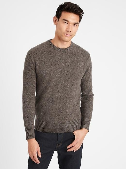 <p>Not only may this <span>Banana Republic Heritage Recycled Cashmere Crew-Neck Sweater</span> ($229-$249) be the softest option in his closet, but it's also upcycled cashmere as a sustainable bonus.</p>