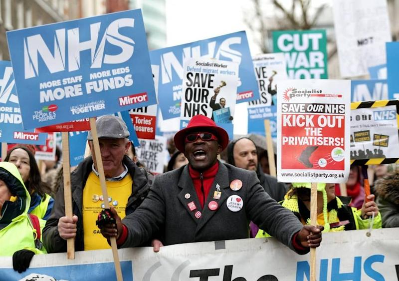 It comes amid speculation Theresa May is to announce a major increase in health spending to mark the 70th anniversary of the NHS: PA