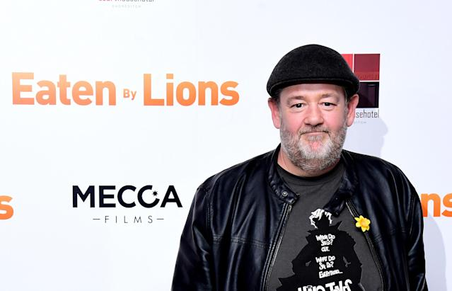 Johnny Vegas attending the Eaten by Lions Premiere held at The Courthouse Hotel in London (PA)