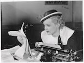 <p>Davis played the role of a reporter in the Warner Bros. comedy <em>Front Page Woman.</em></p>
