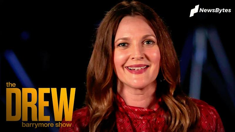 """Drew hosts """"kid"""" Barrymore in exciting talk show promo"""