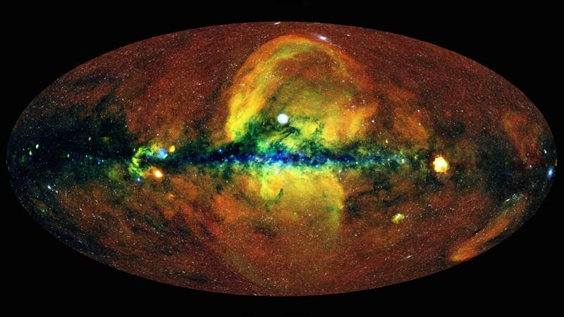 A map of the universe made using over a million X-ray sources observed by eROSITA.