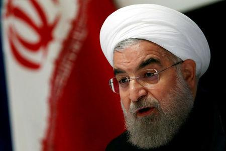 FILE PHOTO: Iranian President Hassan Rouhani takes part in a news conference near the United Nations General Assembly in the Manhattan borough of New York