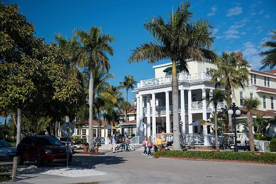 """<p><a href=""""https://the-gasparilla-inn.com/"""" rel=""""nofollow noopener"""" target=""""_blank"""" data-ylk=""""slk:The Gasparilla Inn"""" class=""""link rapid-noclick-resp"""">The Gasparilla Inn</a> is Old Florida charm at its finest and is one of the largest surviving resort hotels in the state, with more than a century of hospitality under its belt. Located on the eponymous barrier island off the west coast of the Sunshine State, Gasparilla Inn offers secluded luxury in the charming city of Boca Grande. Every amenity you could dream of lies on this beautiful property so you never have to leave the island. Just be sure to snag a reservation at the Pink Elephant before arriving to ensure your taste buds are treated to a spectacular evening. </p>"""