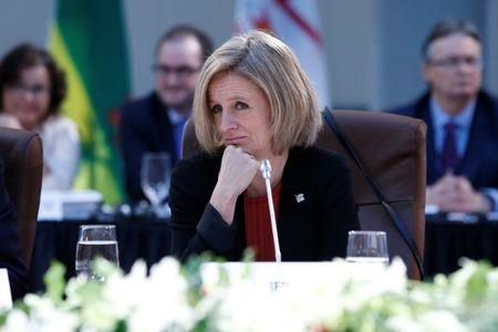 Alberta Premier Rachel Notley takes part in the First Ministers' meeting in Ottawa