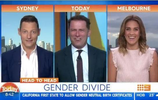 Last month Georgia appeared on Today, and proved she has a great onscreen dynamic with Karl Stefanovic (centre). Source: Channel Nine