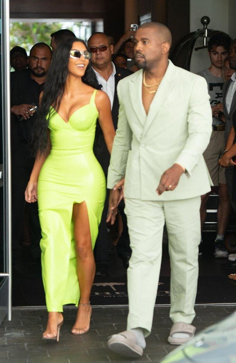 Kim Kardashian and Kanye West (Rex Features)