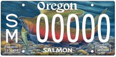 Oregon is updating its salmon license plate on Sept. 1. Drivers interested in having the classic design must secure one from Oregon DMV by Aug. 31.