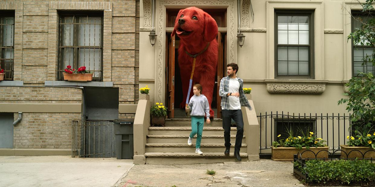 Darby Camp and Jack Whitehall star in CLIFFORD THE BIG RED DOG from Paramount Pictures. (Paramount Pictures)