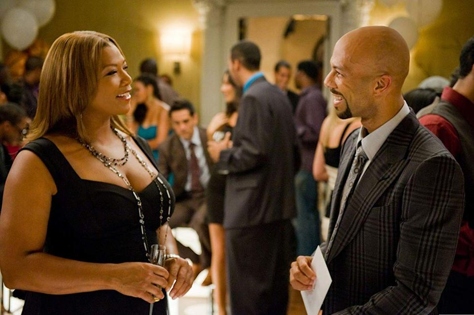 "<p><strong>Cast: </strong>Queen Latifah, Common, Paula Patton<br></p><p>A physical therapist lands her dream job as she's hired to work with a professional basketball player. But as she begins to fall in love with him, <em>his </em>attention is focused on her best friend. </p><p><a class=""link rapid-noclick-resp"" href=""https://www.amazon.com/gp/video/detail/B0042VX7C6/ref=atv_dl_rdr?tag=syn-yahoo-20&ascsubtag=%5Bartid%7C10072.g.28122982%5Bsrc%7Cyahoo-us"" rel=""nofollow noopener"" target=""_blank"" data-ylk=""slk:Watch Now"">Watch Now</a></p>"