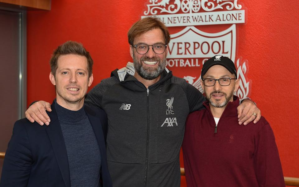 Jurgen Klopp Signs A Contract Extension and chats with Sporting Director Michael Edwards and Mike Gordon - Getty Images