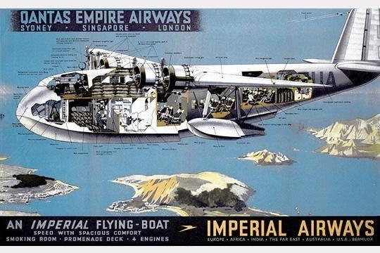 Imperial connection: the flying boat operated in 1939 (Qantas)