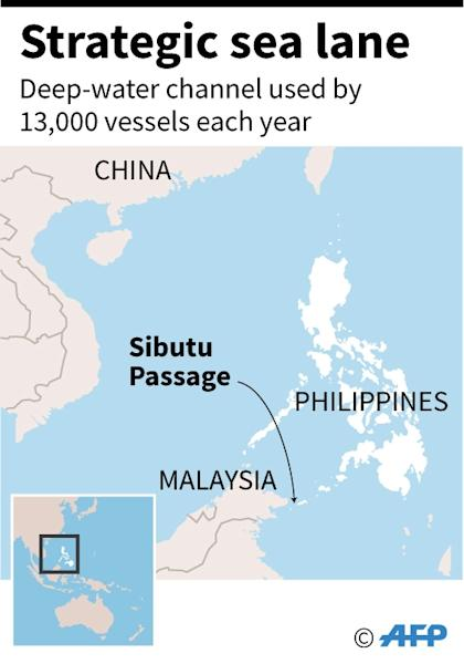 The Sibutu Passage between the Philippines and Malaysia (AFP Photo/AFP)