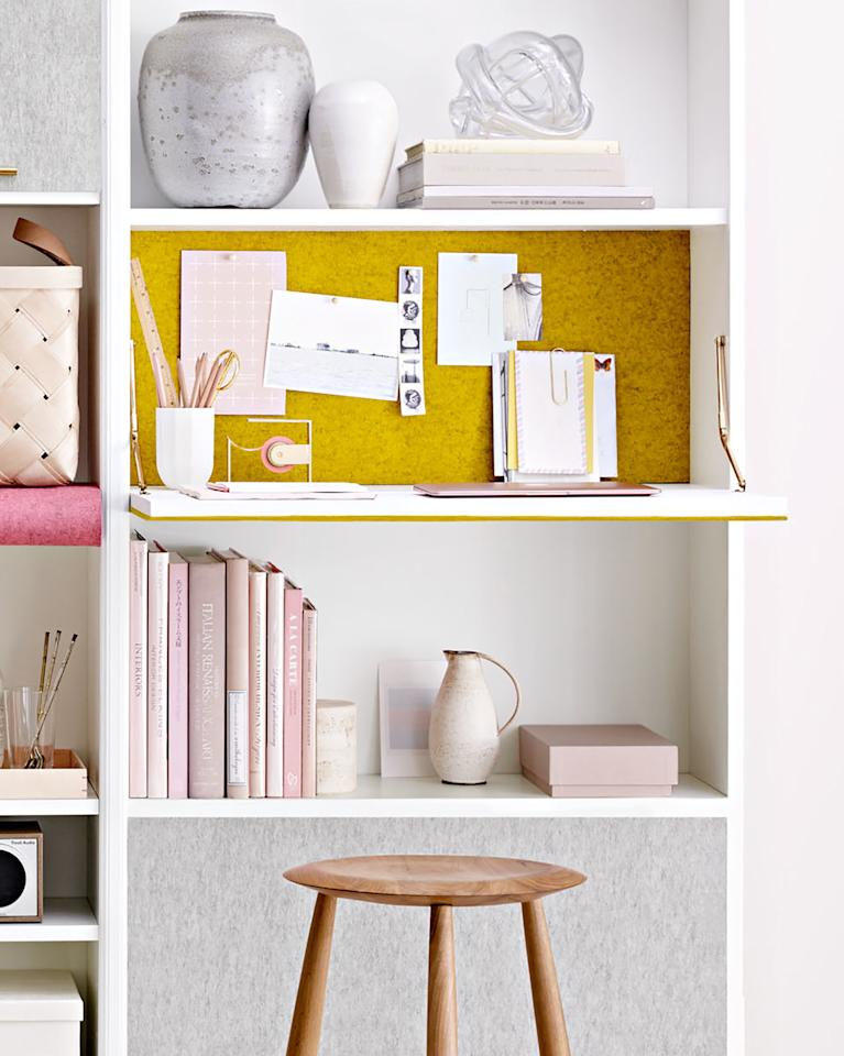 """<p>If you aren't already hip to foldout furniture, now's the time to smarten up. Whether it's a wall-mounted dropleaf desk or a storage cabinet that opens to reveal a table or bed, foldaway furnishings are great for maximizing a small space, says <a href=""""https://www.crystalsinclairdesigns.com/"""">Sinclair</a>.</p>"""