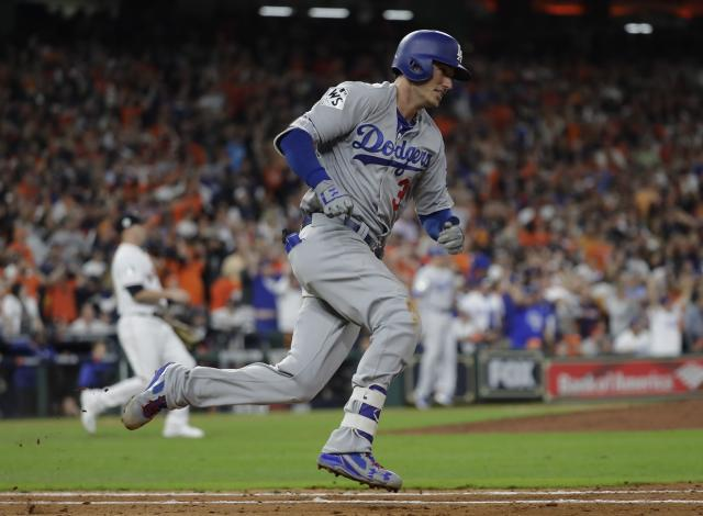 Cody Bellinger of the Los Angeles Dodgers has the NL Rookie of the Year award all sewn up. (AP Photo)