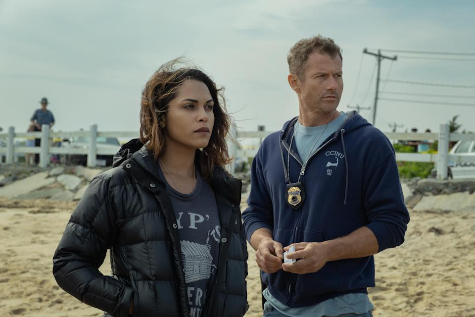 Monica Raymund and James Badge Dale in <em>Hightown</em>. (Photo: Claire Folger/Starz)
