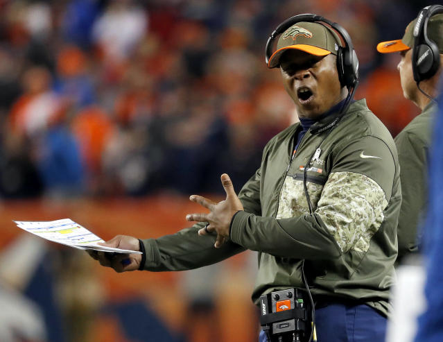 It's not going well for Vance Joseph. (AP)