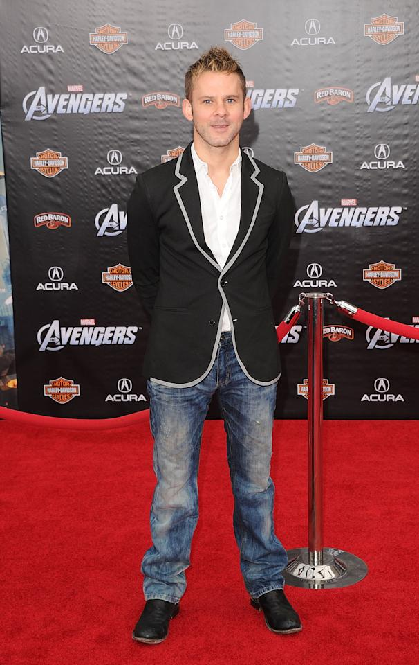 HOLLYWOOD, CA - APRIL 11:  Actor Dominic Monaghan arrives at the premiere of Marvel Studios' 'The Avengers' at the El Capitan Theatre on April 11, 2012 in Hollywood, California.  (Photo by Jason Merritt/Getty Images)