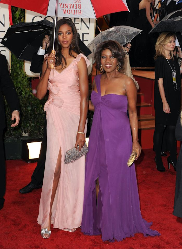 Actress Alfre Woodard (R) and daughter Mavis Spencer arrive at the 67th Annual Golden Globe Awards at The Beverly Hilton Hotel on January 17, 2010 in Beverly Hills, California.  (Photo by Steve Granitz/WireImage)