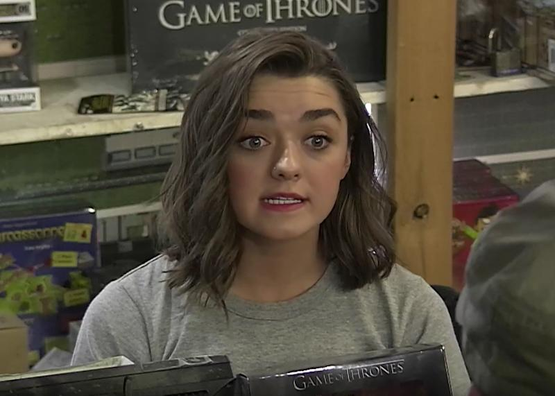 Arya Stark Pretends To Be A Store Clerk Hilariously Pranks Game Of