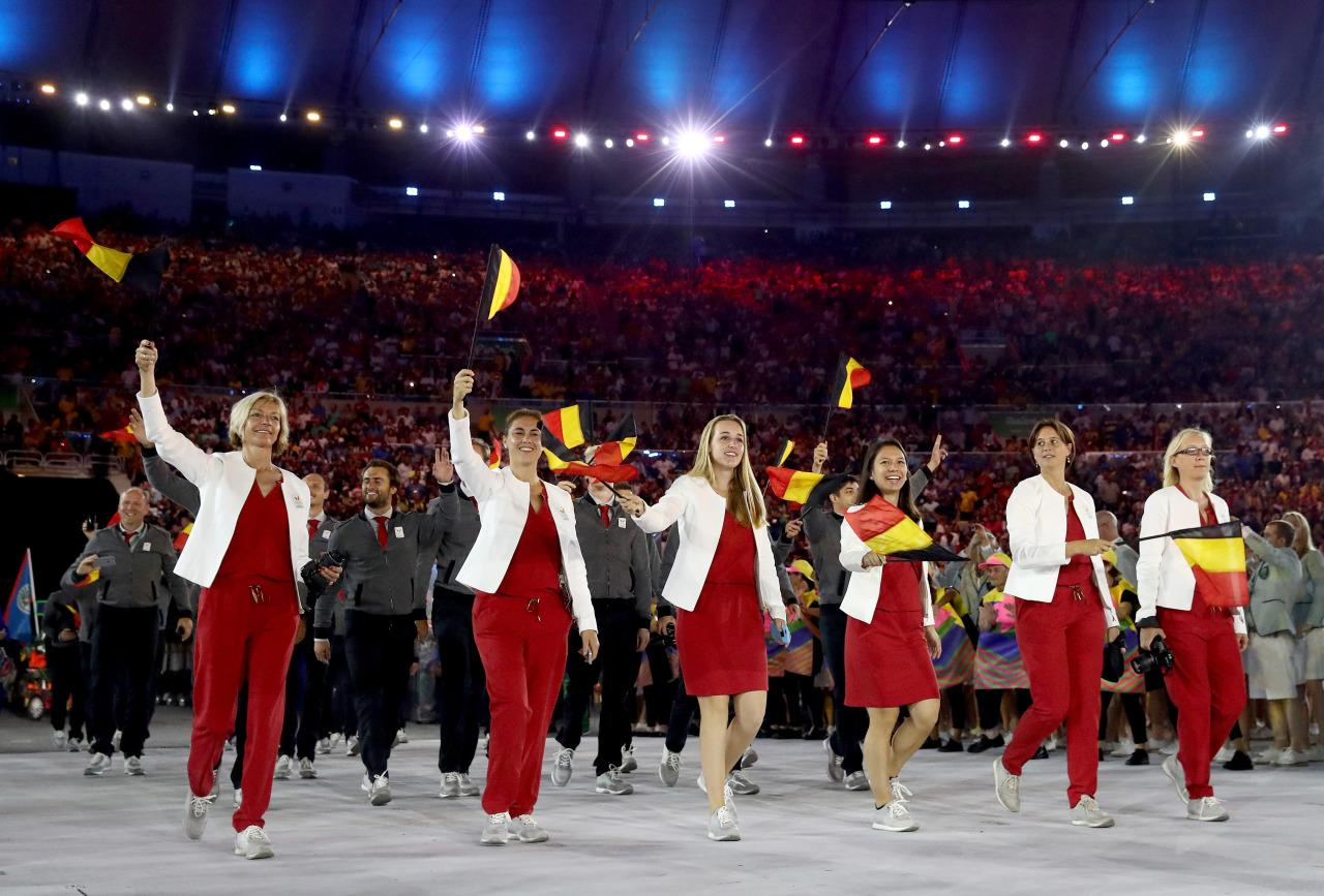 <p>Belgium has produced some highly influential fashion designers in the past 30 years (think Diane von Furstenberg and Dries van Noten). So in showcasing its Opening Ceremony outfits for the world to see, the pressure was on. The result was a superchic pseudo-bomber jacket with dark pants — minimalist meets athleisure.</p><p><i>(Photo: Getty Images)</i><br /></p>