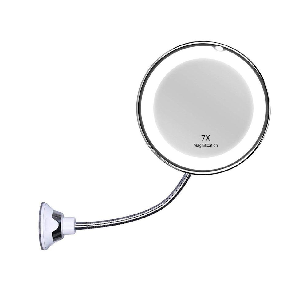 "Anyone who wears glasses needs this mirror. The 10x magnification lets you see <em>everything</em>, and the gooseneck lets you bring it in as close to your face as you want (especially handy when you're struggling with a loose contact). No more leaning over the bathroom sink and getting your clothes all wet. —<em>S.S.</em> $25, Amazon. <a href=""https://www.amazon.com/KEDSUM-Flexible-Gooseneck-Magnifying-Bathroom/dp/B01MYX3DC6/"" rel=""nofollow noopener"" target=""_blank"" data-ylk=""slk:Get it now!"" class=""link rapid-noclick-resp"">Get it now!</a>"