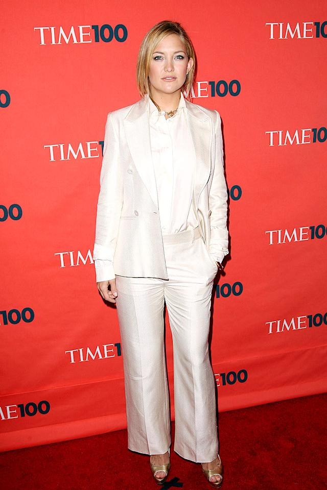 "Kate Hudson is one of Hollywood's hottest, but she looked a tad matronly in this ill-fitting Stella McCartney blazer and boxy trousers at Time magazine's ""100 Most Influential People in the World"" party. Stephen Lovekin/<a href=""http://www.gettyimages.com/"" target=""new"">GettyImages.com</a> - May 5, 2009"