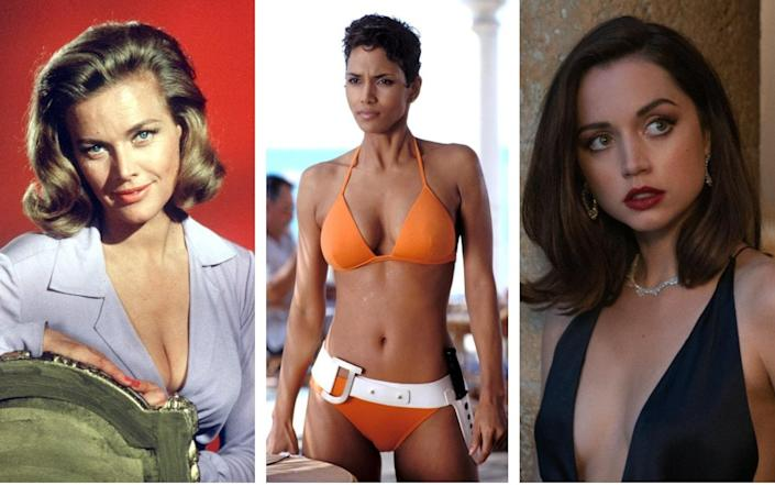Bond girls are forever... from Honor Blackman in Goldfinger, to Halle Berry in Die Another Day and Ana de Armas in No Time To Die - Silver Screen Collection/Getty Images/Rex Features/Nicola Dove