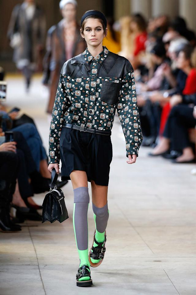 <p><strong>3 October</strong> Kaia Gerber walked in her final show of fashion month for Miu Miu.</p>