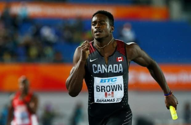 Aaron Brown is seen above at the World Relays in 2017. Brown was one of 24 athletes chosen by Athletics Canada on Wednesday to compete at the 2021 edition in May.   (Matthew Lewis/Getty Images/ - image credit)