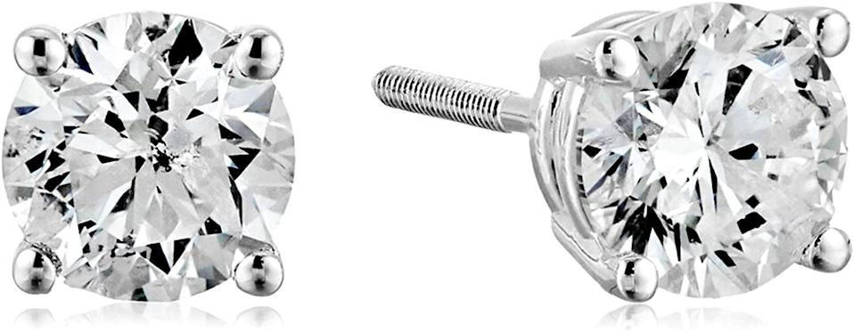 <p>Treat someone to these <span>Certified 14k White Gold Diamond With Screw Back and Post Stud Earrings</span> ($1,299) they'll cherish for years to come.</p>