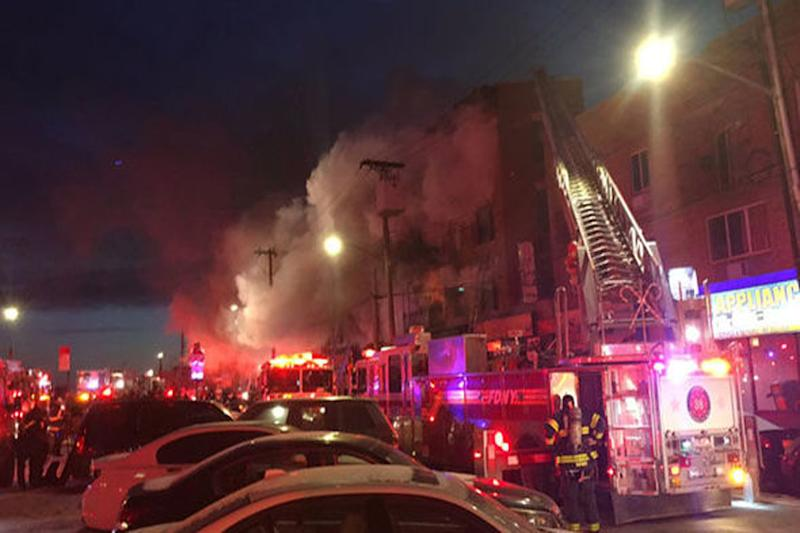 Fire Rips Through Apartment Complex in New York City, Dozen Injured