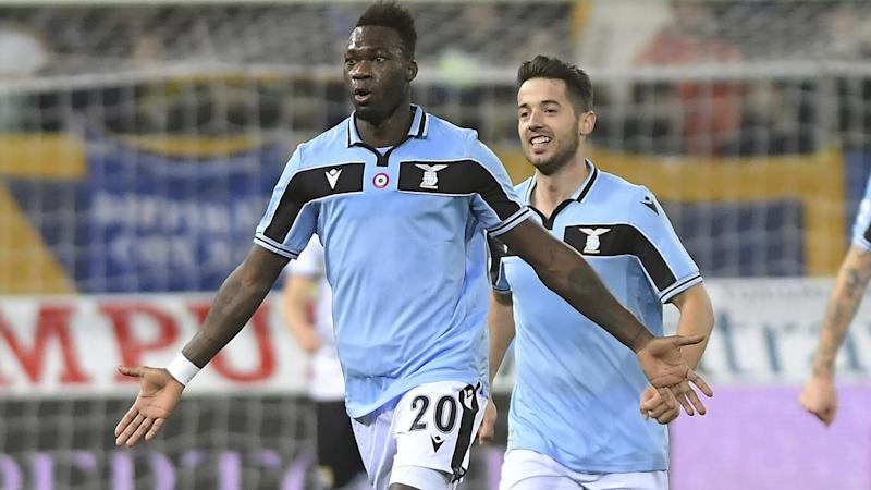 Lazio's Felipe Caicedo (L) netted the only goal in their Italian Serie A win over Parma