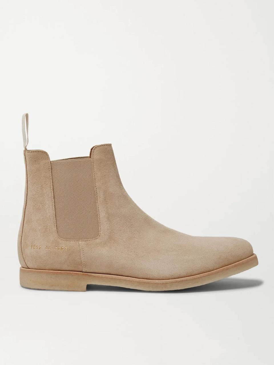 Common Projects Suede Chelsea Boots. Image via Mr. Porter.