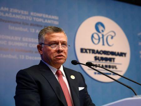 Jordan's King Abdullah speaks during an extraordinary meeting of the Organisation of Islamic Cooperation (OIC) in Istanbul, Turkey, December 13, 2017. REUTERS/Kayhan Ozer/Pool/Files