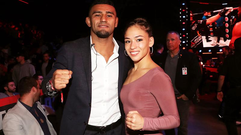 Douglas Lima and Valerie Loureda, pictured here at a UFC event in 2019.