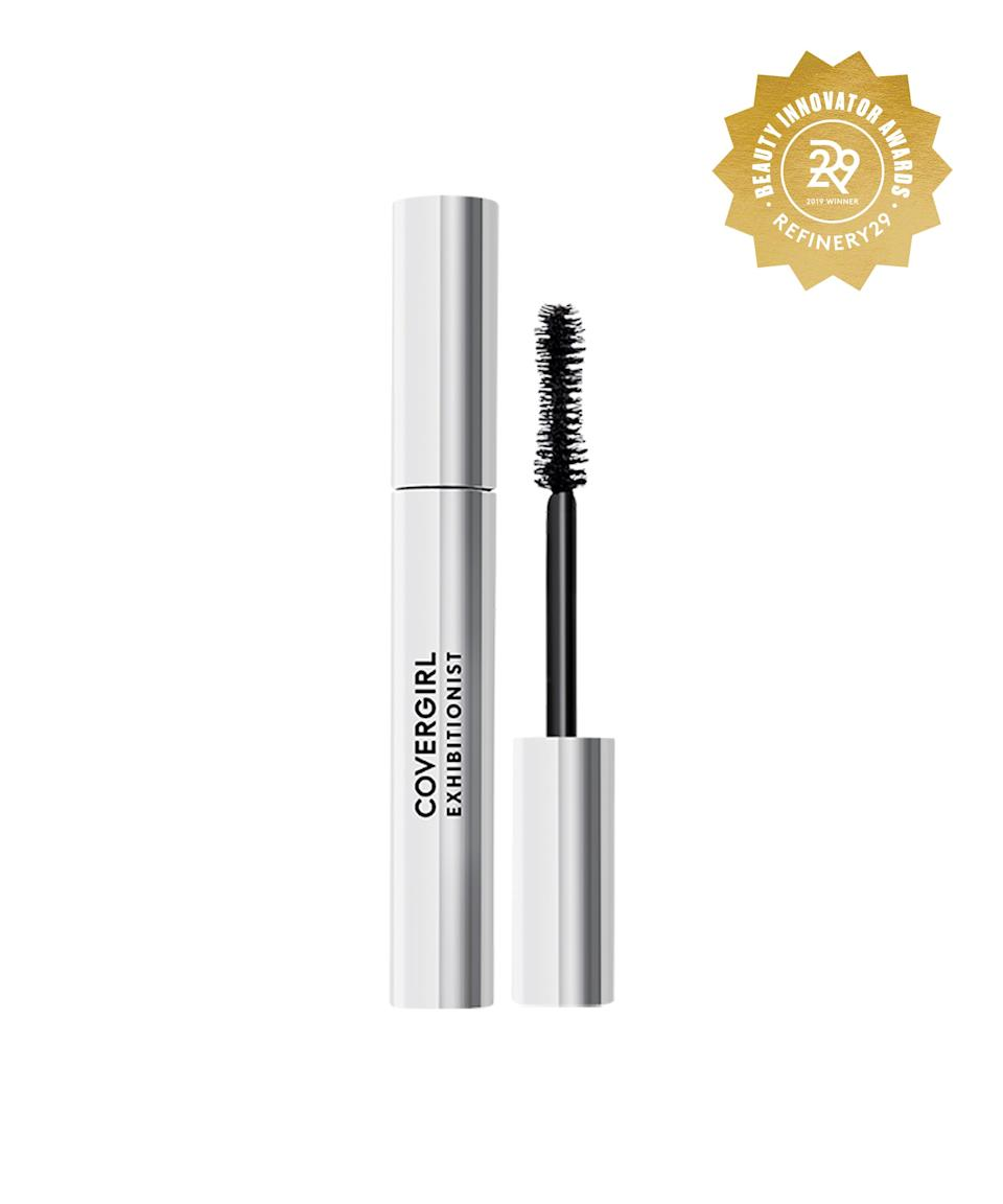 """<strong><h2>Covergirl Exhibitionist Mascara</h2></strong> <br>Behold, a jet-black mascara that'll lift and plump your lashes in one coat and won't flake on you by lunchtime.<br><br><strong>COVERGIRL</strong> COVERGIRL Exhibitionist Mascara Midnight Black, $, available at <a href=""""https://www.target.com/p/covergirl-exhibitionist-mascara-midnight-black-0-14-fl-oz/-/A-76167579#locklink"""" rel=""""nofollow noopener"""" target=""""_blank"""" data-ylk=""""slk:Target"""" class=""""link rapid-noclick-resp"""">Target</a><br>"""
