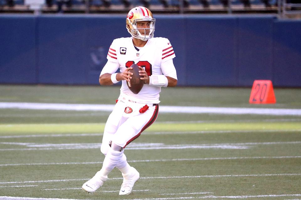 Jimmy Garoppolo of the San Francisco 49ers